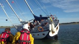 YAcht 'Karma' aground