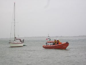 'All Spice' towed by the lifeboat.
