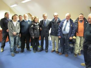 RNLI Chairman with crew members.