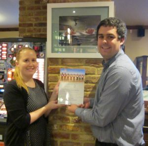 Tara & Luke with their RNLI Certificate